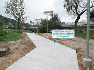 Temporary Footpath Connecting to Chevalier Garden Bus Station