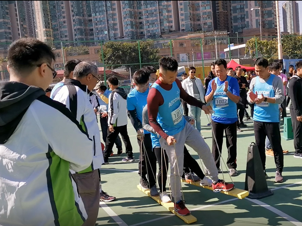 Project team's participation in Construction Industry Sports Day and Charity Fun Day on 8 Dec 2019